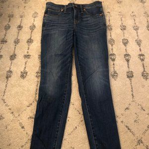 "Madewell 10"" High rise skinny jeans blue"